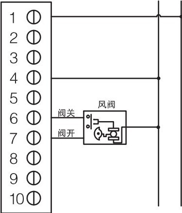 电动风阀控制  pl-03-e     注:上图仅供参考,实际以电源盒背面接线囿图片