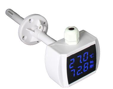 管道式0-10V电压温湿变送器